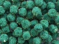 Помпоны с люрексом (цв.зеленый) 3см