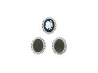 Рамки для кабашонов металл(раз. внутри 18 х 25мм) серебро
