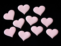 Патчи ткань 50мм (цв.светло розовый)