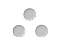 Крышки декоративные (пластик) 25мм (внутри 22мм)белые