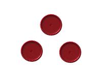Крышки декоративные (пластик) 25мм (внутри 22мм)красные
