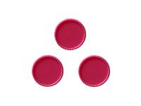 Крышки декоративные (пластик) 25мм (внутри 22мм)малиновые