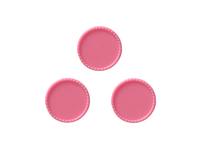 Крышки декоративные (пластик) 25мм (внутри 22мм)розовые