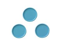 Крышки декоративные (пластик) 25мм (внутри 22мм)голубые