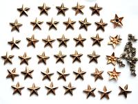Звезды (металл с заклепкой) 10мм