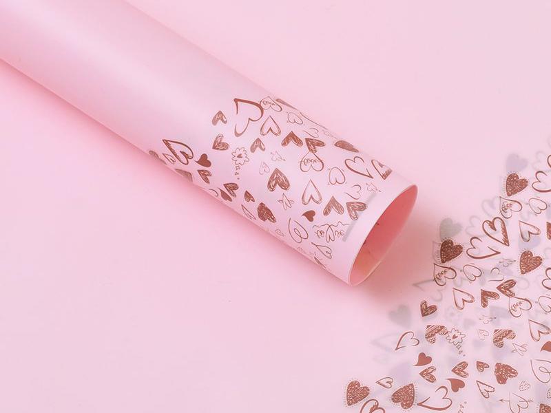 Пленка для цветов (Сердечки) 58х58
