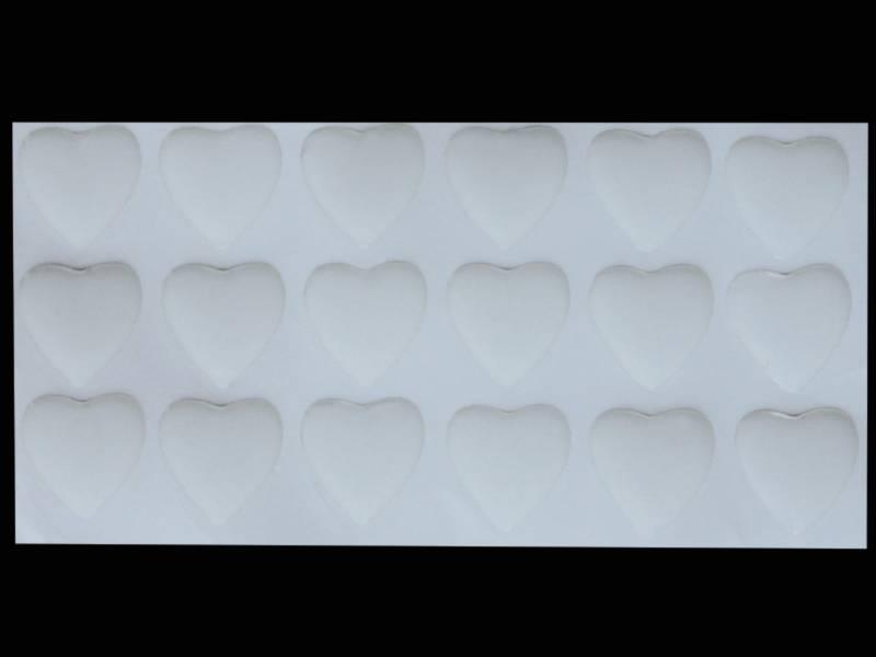 Наклейки эпоксидные прозрачные 24мм сердца