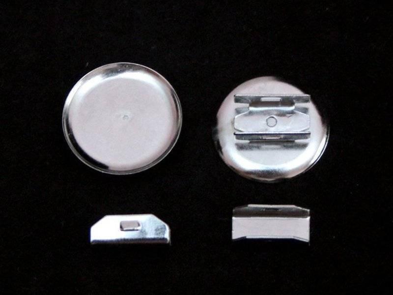 Основа для резинки (металл) цвет серебро 25мм