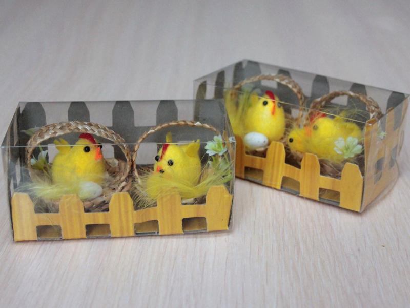 Цыплята в корзинке 5см