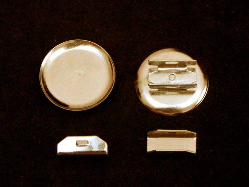 Основа для резинки (металл) цвет золото 30мм