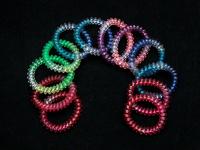 Резинки для волос силикон(радуга) 55мм