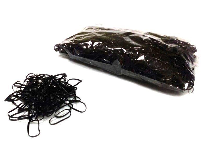 Резинки для волос (силикон) цв. черный