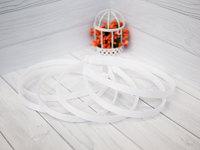 Ободок-основа (пластик-репс) цвет белый 1см