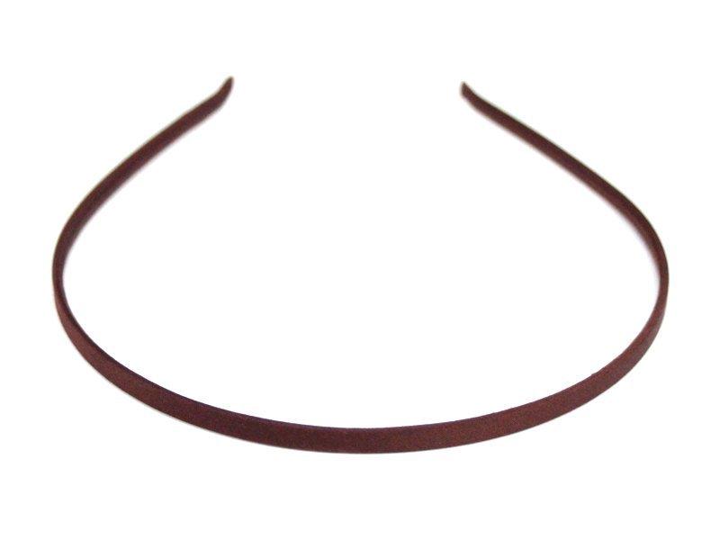 Ободок-основа металл.-ткань(цвет коричневый) 6мм