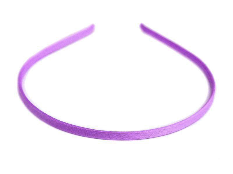 Ободок-основа металл.-ткань(цвет фиолетовый) 6мм