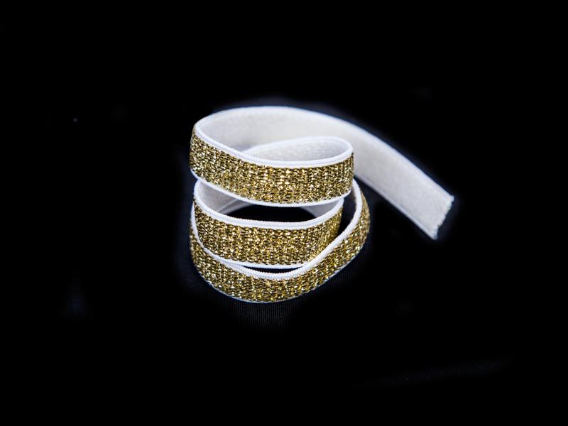 Резинка с люрексом 10мм (золото)