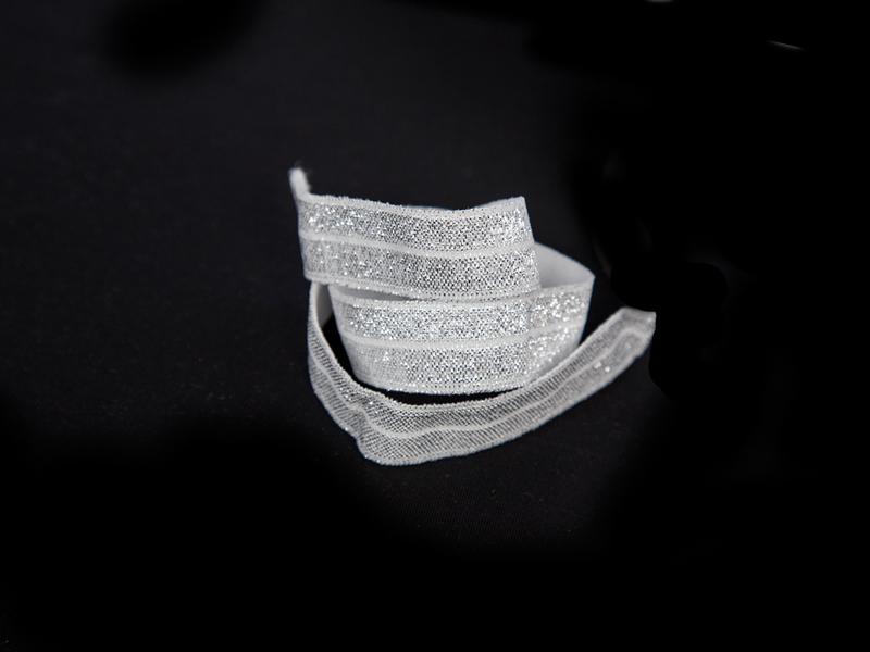 Резинка с люрексом 15мм (серебро)