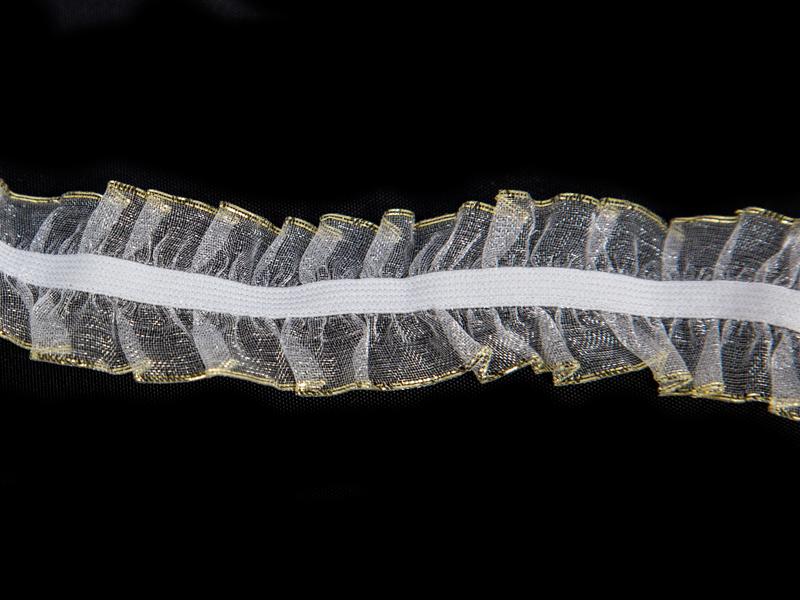 Резинка-кружево 25мм(люрекс золото)