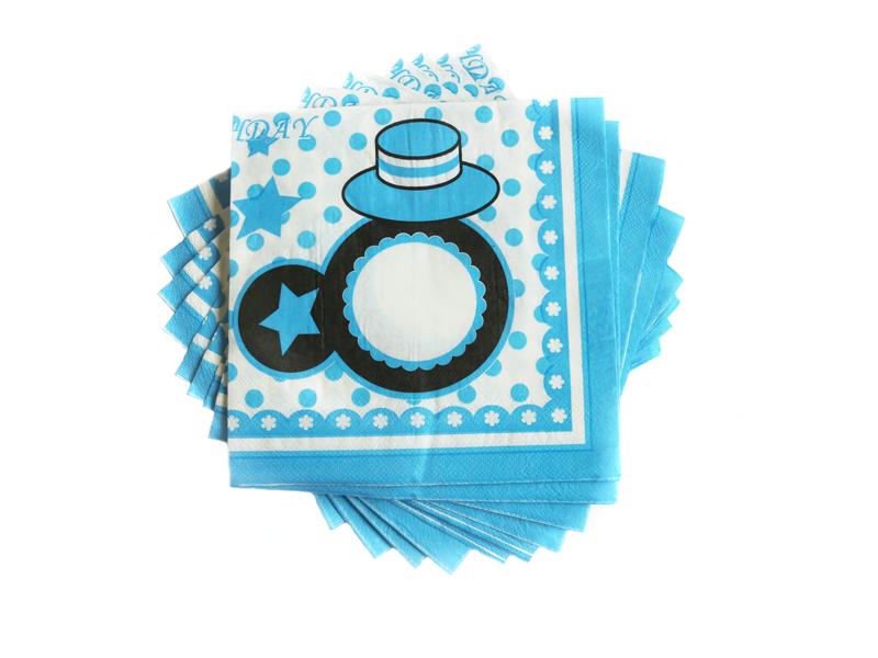Салфетки бумажные 16х16см