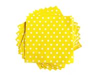 Салфетки бумажные (цв. желтый) 16х16см