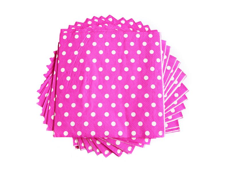 Салфетки бумажные (цв. тем.розовый) 16х16см