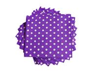 Салфетки бумажные (цв. фиолетовый) 16х16см
