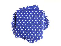 Салфетки бумажные (цв. синий) 16х16см
