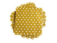 Салфетки бумажные (цв. св.коричневый) 16х16см