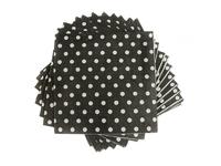 Салфетки бумажные (цв. черный) 16х16см