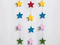Гирлянда бумажная на нитке 2м (звезды)