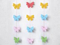 Гирлянда бумажная на нитке 2м (бабочки)