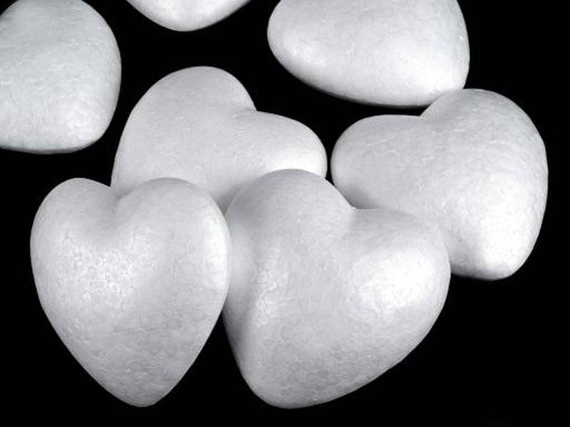 Сердце из пенопласта 70мм