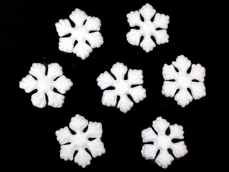 Снежинки из пенопласта 50мм
