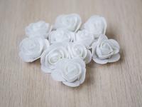 Цветы из фоамирана(цв.белый) 3,5см