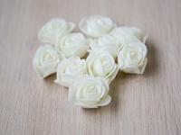 Цветы из фоамирана(цв.молочный) 3,5см