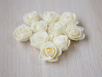 Цветы из фоамирана(цв.кремовый) 3,5см