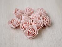 Цветы из фоамирана(цв. св. персик) 3,5см