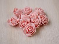Цветы из фоамирана(цв. персиковый) 3,5см