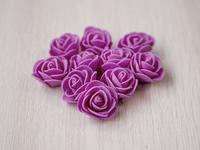 Цветы из фоамирана(цв.малиновый) 3,5см