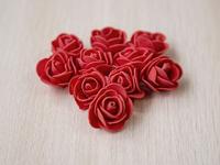 Цветы из фоамирана(цв.красный) 3,5см