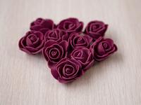 Цветы из фоамирана(цв.свекольный) 3,5см