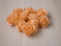 Цветы из фоамирана(цв.оранжевый) 3,5см