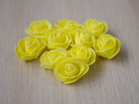 Цветы из фоамирана(цв.желтый) 3,5см