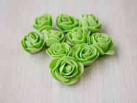 Цветы из фоамирана(цв.салатовый) 3,5см