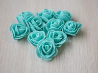 Цветы из фоамирана(цв.бирюза) 3,5см
