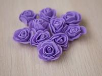 Цветы из фоамирана(цв.фиолетовый) 3,5см