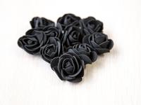 Цветы из фоамирана(цв.черный) 3,5см