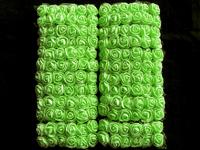 Цветы фоам+органза 25мм (салатовый)
