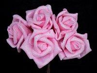 Цветы из фоамирана (цв. светло розовый) 6см