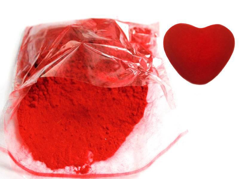 Флок порошок (бархат) цв. красный